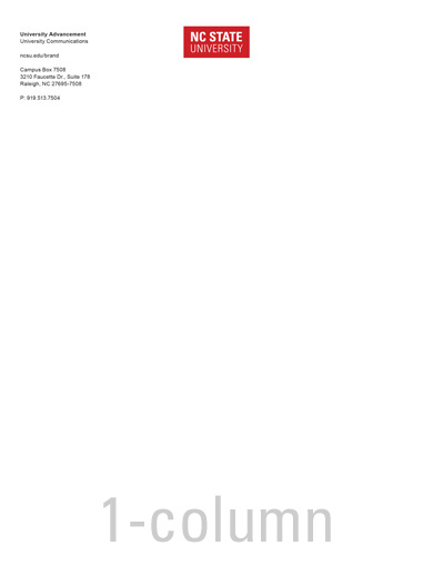 Word letterhead Template one column