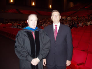 Photo of Dr. Vouk and William Weiss