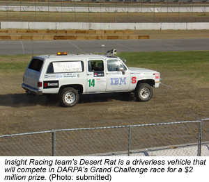 Photo of Insight Racing team's Desert Rat