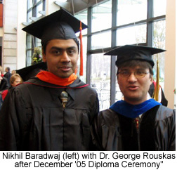 Photo of Nikil and Dr. Rouskas