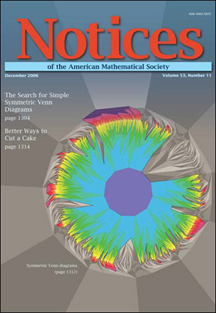 Image of December 2006 issue of the Notices of the American Mathematical Society