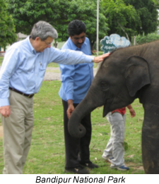 Photo of Dr. Park at Bandipur National Park