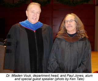 Photo of Dr. Vouk and Paul Jones