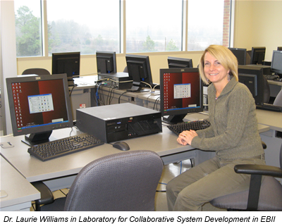 Photo of Dr. Williams in the Collaborative Lab